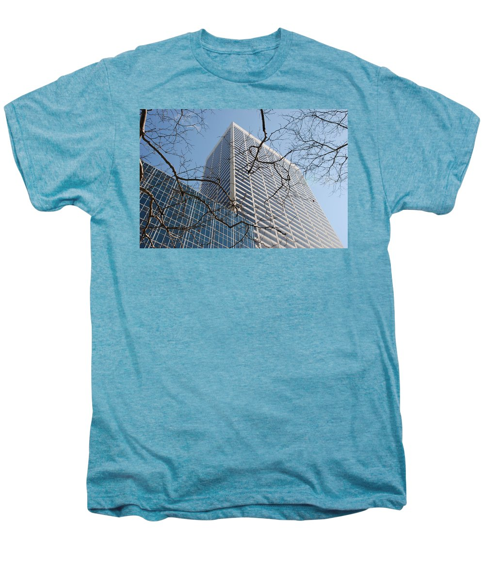 Architecture Men's Premium T-Shirt featuring the photograph Wood And Glass by Rob Hans