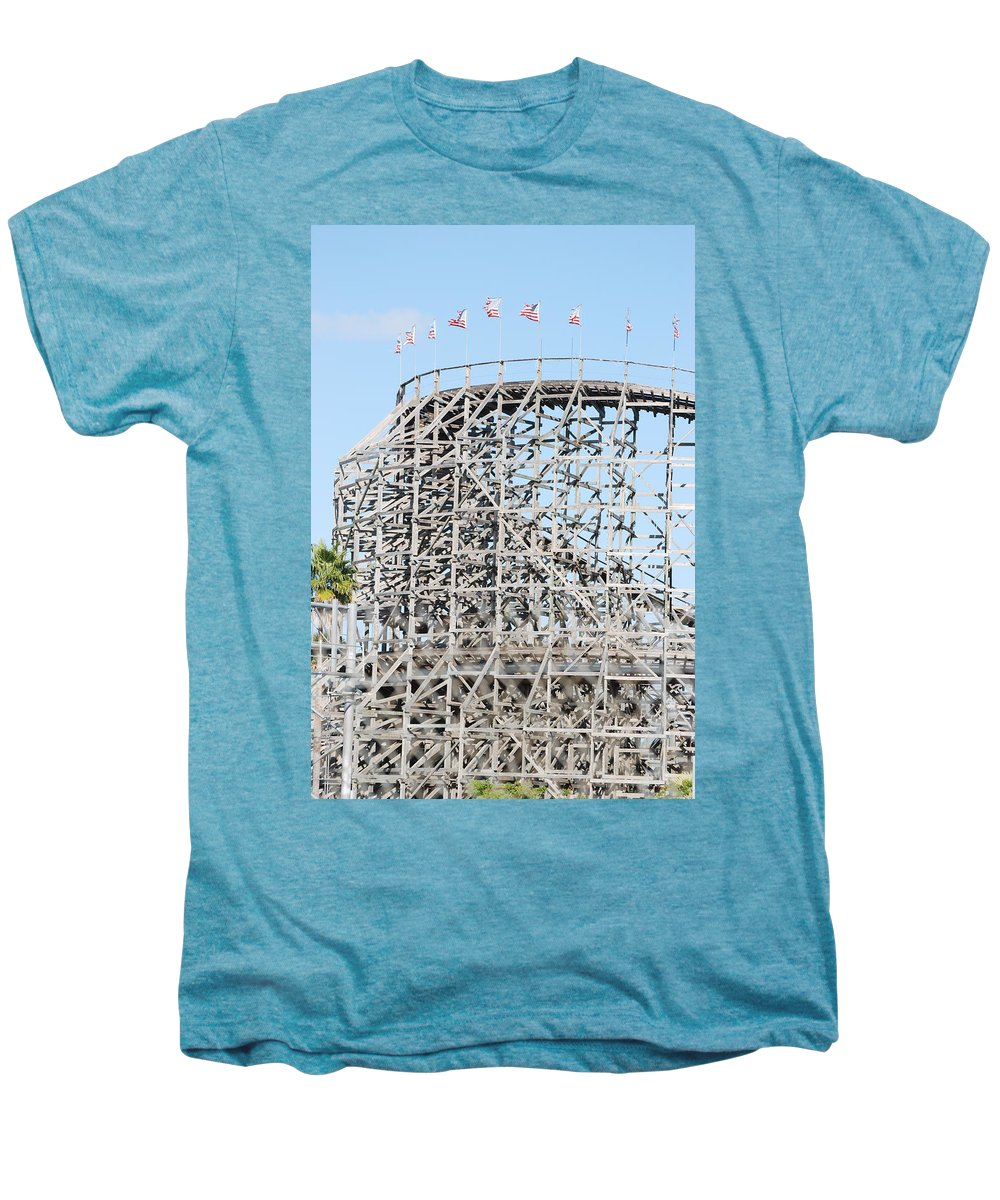 Pop Art Men's Premium T-Shirt featuring the photograph Wooden Coaster by Rob Hans