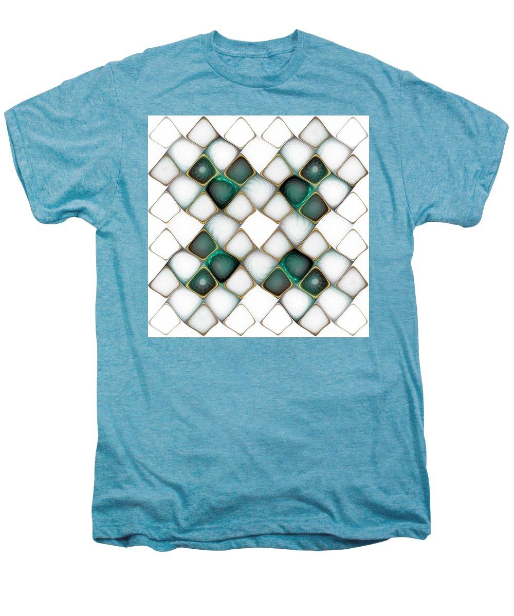 Digital Art Men's Premium T-Shirt featuring the digital art X Marks The Spot by Amanda Moore