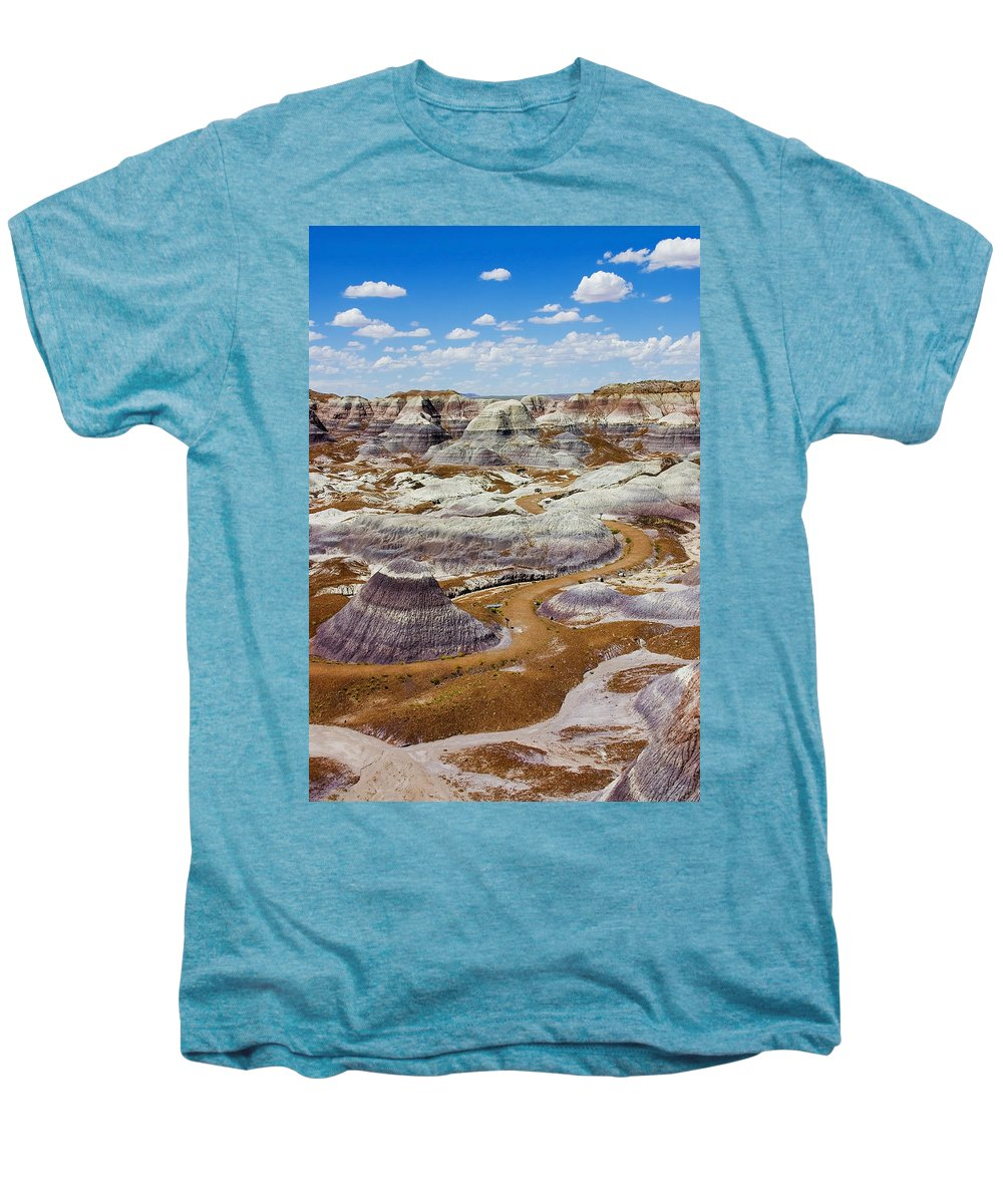 Painted Desert Men's Premium T-Shirt featuring the photograph Yea Though I Walk by Skip Hunt