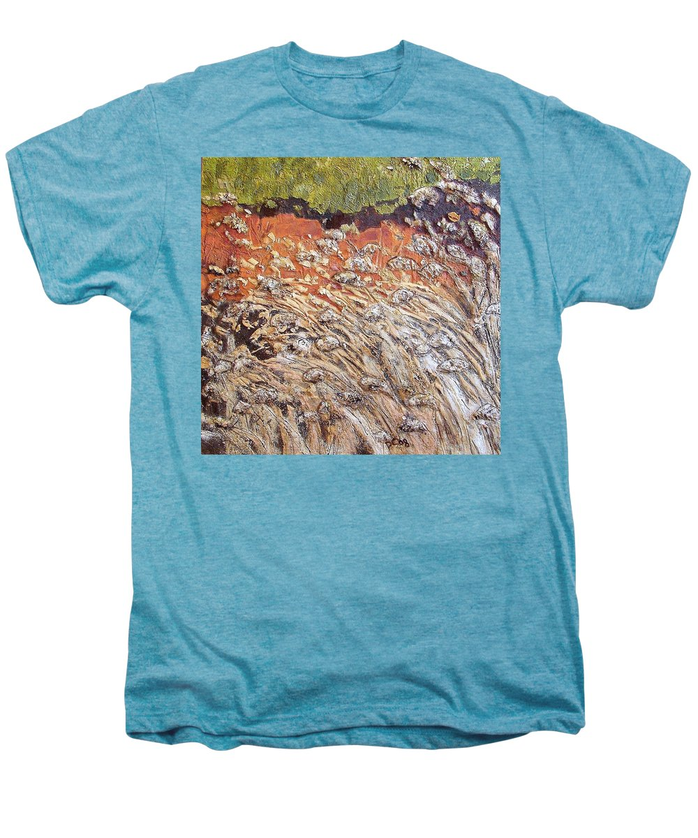 Abstract Men's Premium T-Shirt featuring the painting Yearning by Piety Choi