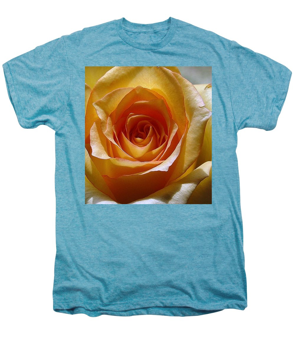 Rose Yellow Men's Premium T-Shirt featuring the photograph Yellow Rose by Luciana Seymour