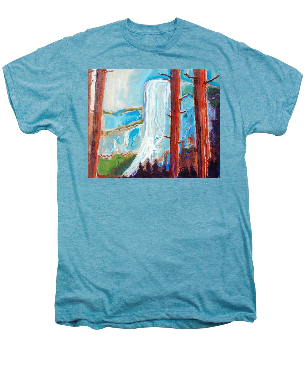 Men's Premium T-Shirt featuring the painting Yosemite by Kurt Hausmann