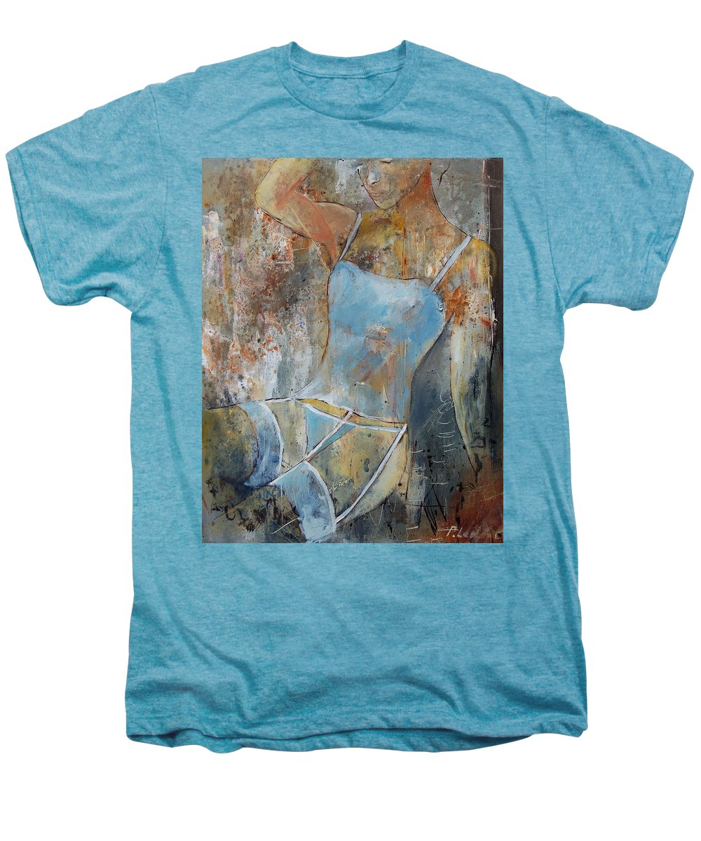 Nude Men's Premium T-Shirt featuring the painting Young Girl 451108 by Pol Ledent
