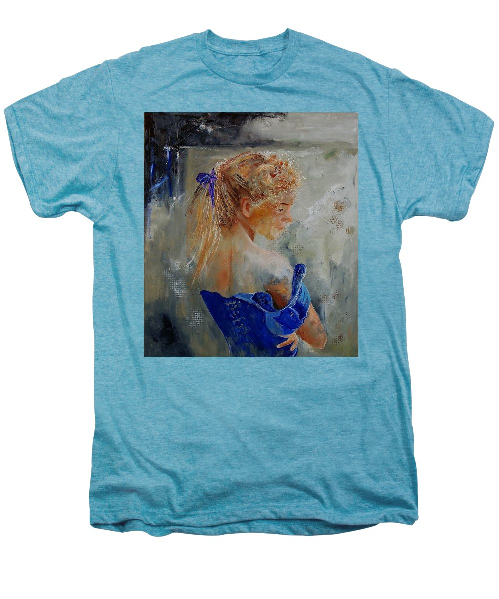 Gir Men's Premium T-Shirt featuring the painting Young Girl 78 by Pol Ledent