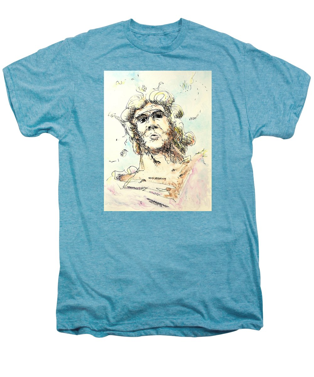 Zeus Men's Premium T-Shirt featuring the painting Zeus by Dave Martsolf