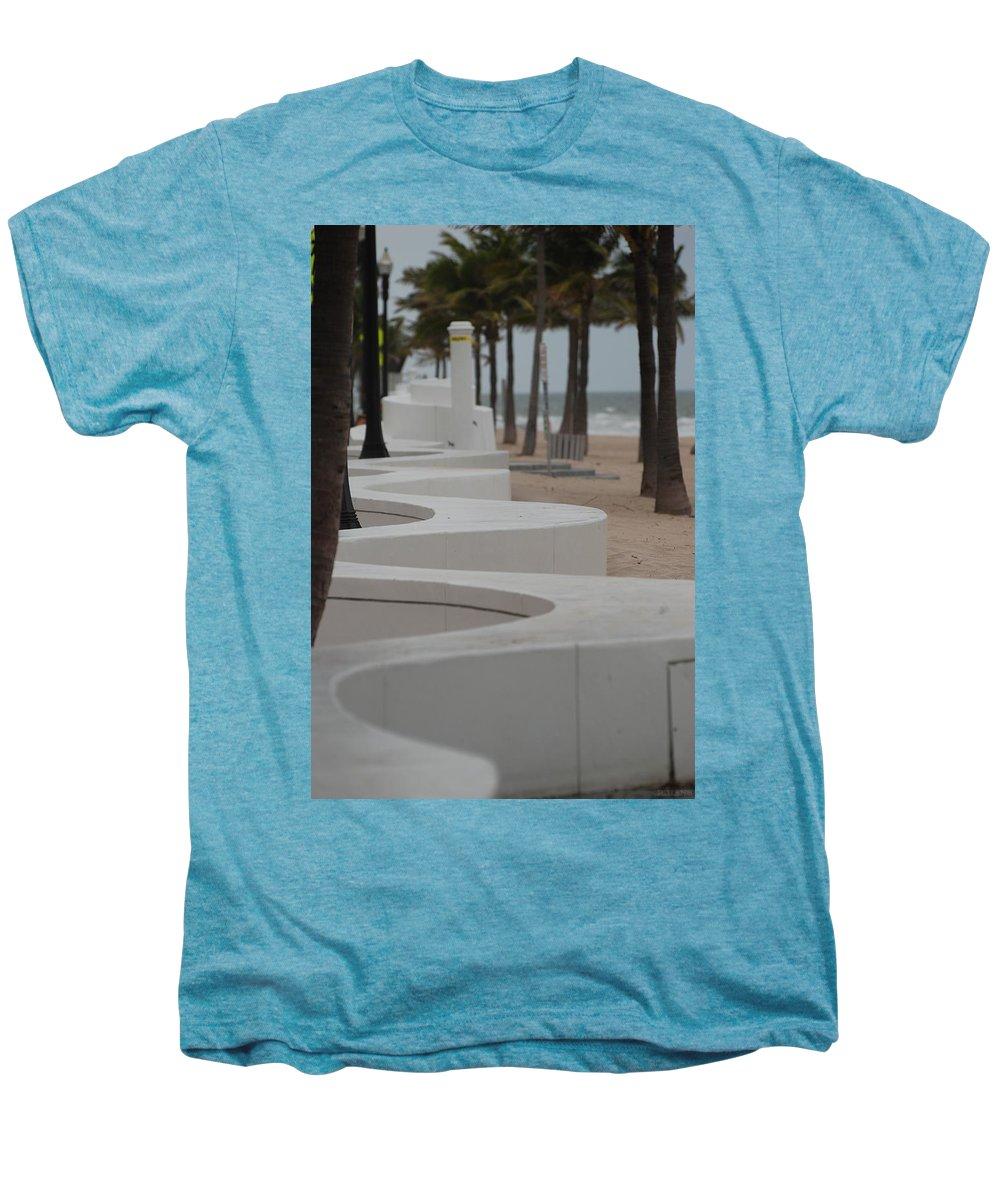 Pop Art Men's Premium T-Shirt featuring the photograph Zig Zag At The Beach by Rob Hans