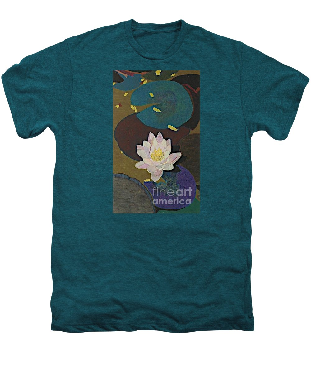 Landscape Men's Premium T-Shirt featuring the painting Autumn Lily by Allan P Friedlander