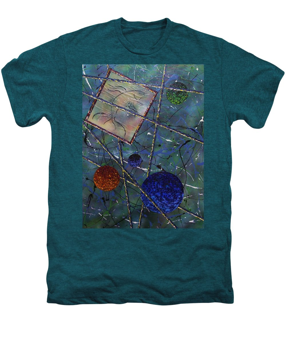Fish Men's Premium T-Shirt featuring the painting Pisces by Micah Guenther