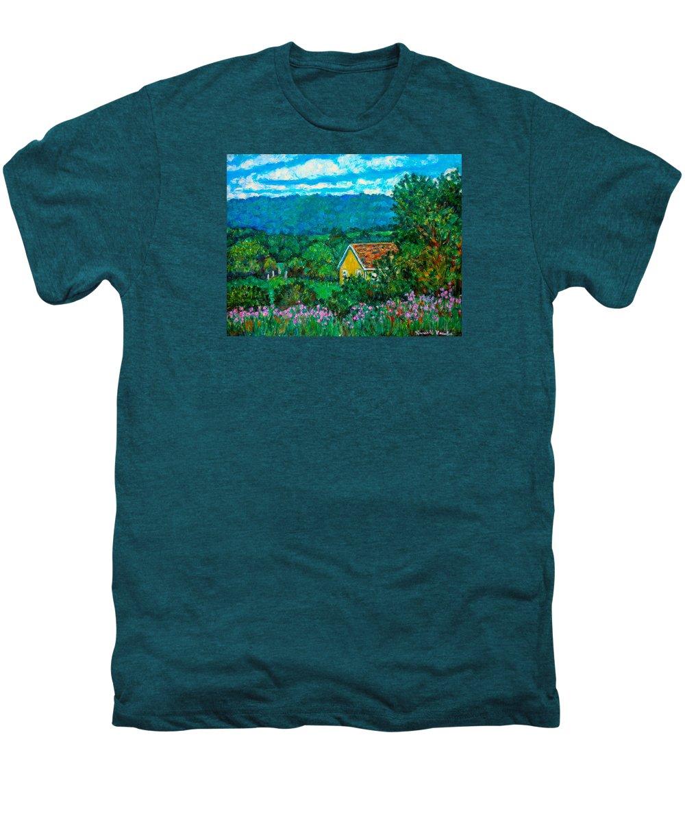 Landscape Men's Premium T-Shirt featuring the painting 460 by Kendall Kessler