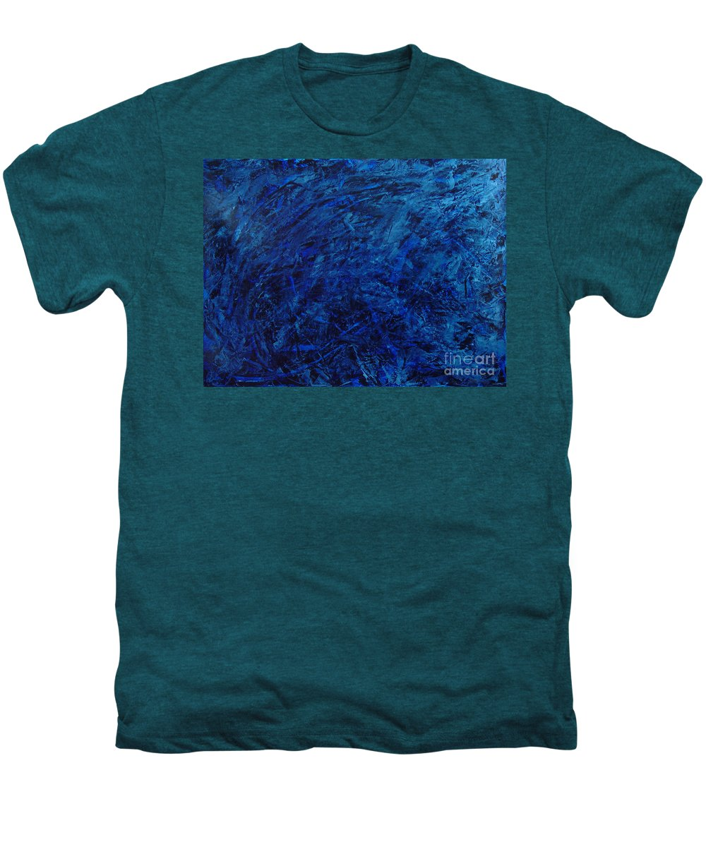 Abstract Men's Premium T-Shirt featuring the painting Alans Call by Dean Triolo