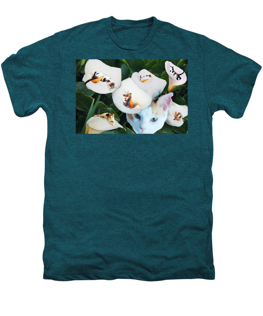 Cat Men's Premium T-Shirt featuring the digital art Cala In Callas by Lisa Yount