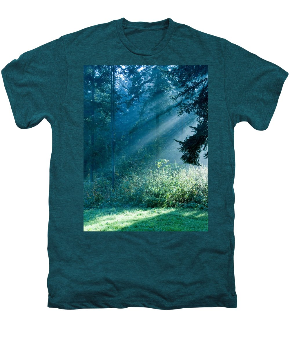 Nature Men's Premium T-Shirt featuring the photograph Elven Forest by Daniel Csoka
