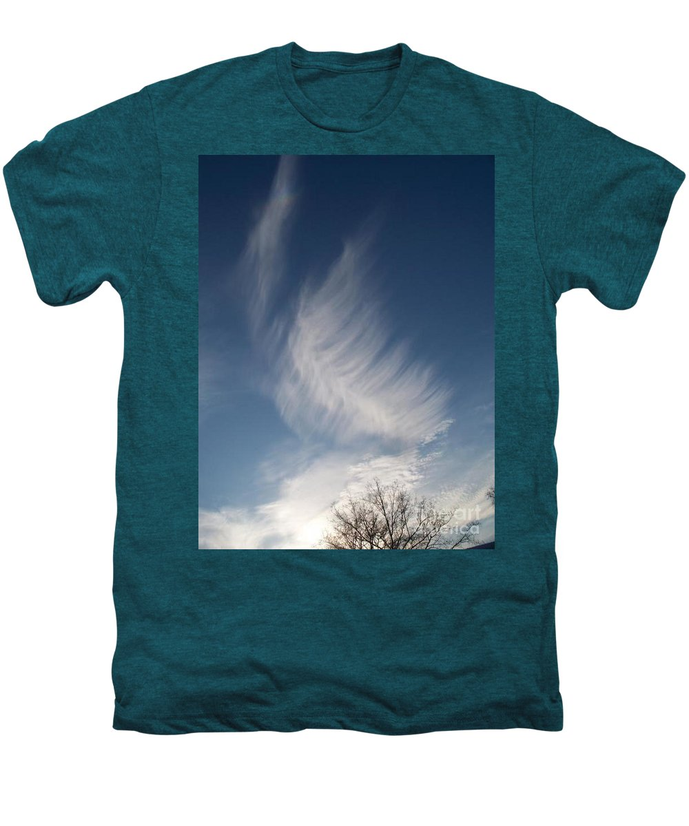 Angel Men's Premium T-Shirt featuring the photograph Feather Cloud By Diane Schiabor by Eric Schiabor