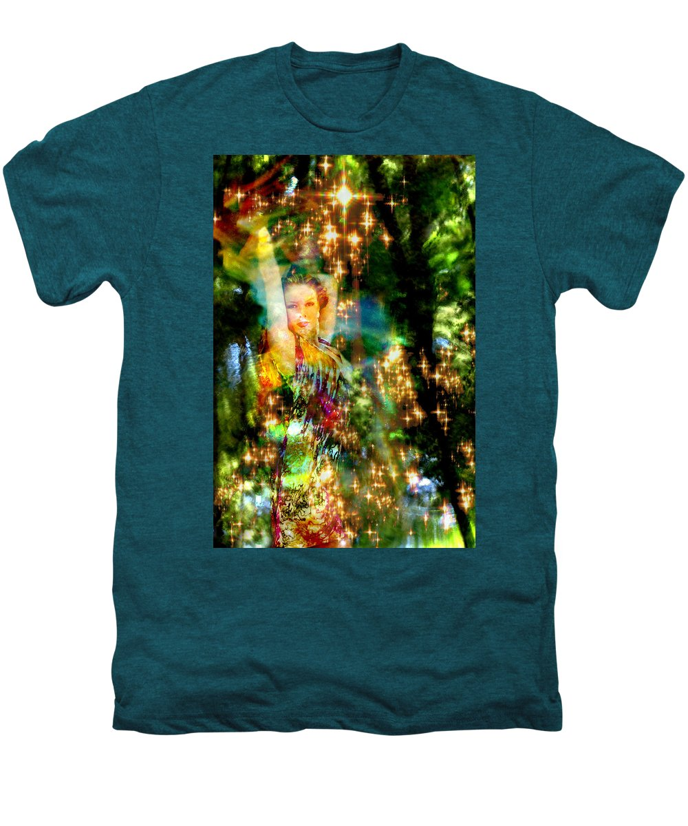 Forest Men's Premium T-Shirt featuring the digital art Forest Goddess 4 by Lisa Yount