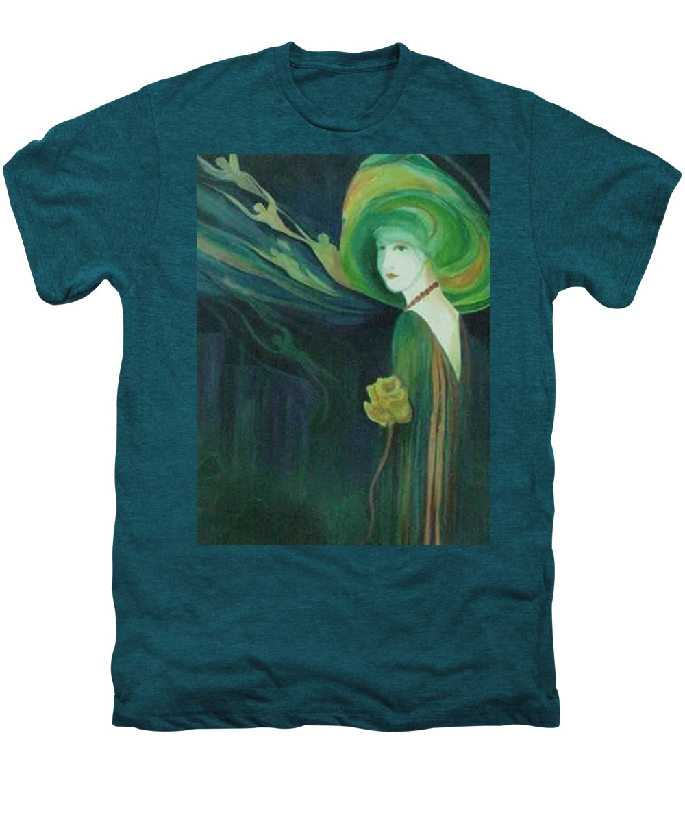 Women Men's Premium T-Shirt featuring the painting My Haunted Past by Carolyn LeGrand