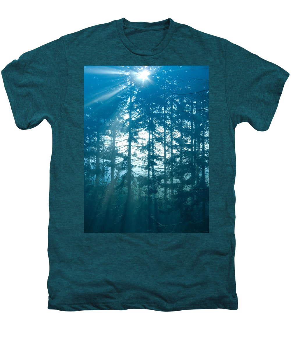 Nature Men's Premium T-Shirt featuring the photograph Mystic Light by Daniel Csoka