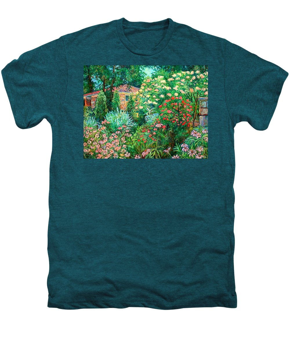 Garden Men's Premium T-Shirt featuring the painting North Albemarle In Mclean Va by Kendall Kessler