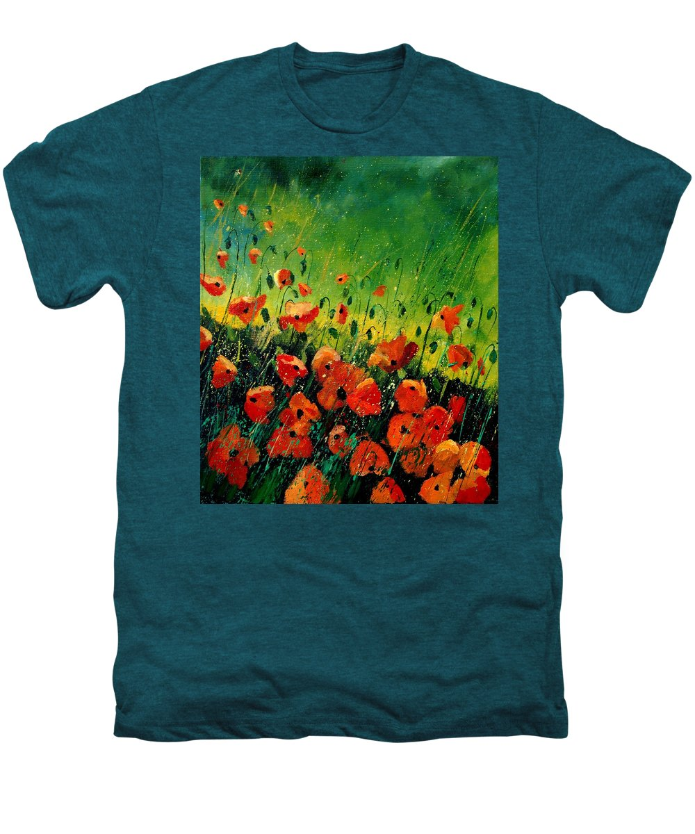 Poppies Men's Premium T-Shirt featuring the painting Orange Poppies by Pol Ledent