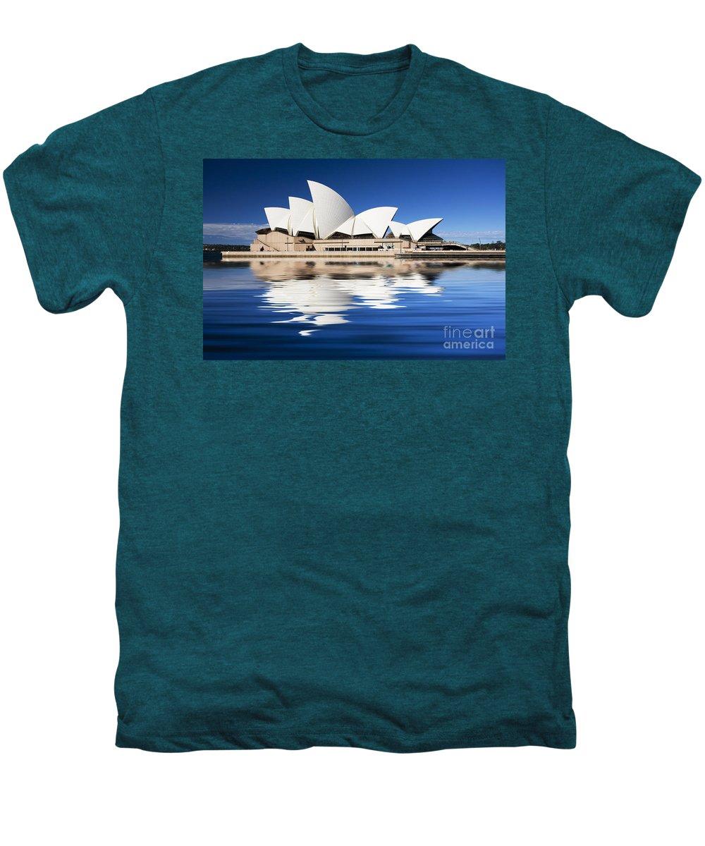 Sydney Opera House Men's Premium T-Shirt featuring the photograph Sydney Icon by Sheila Smart Fine Art Photography