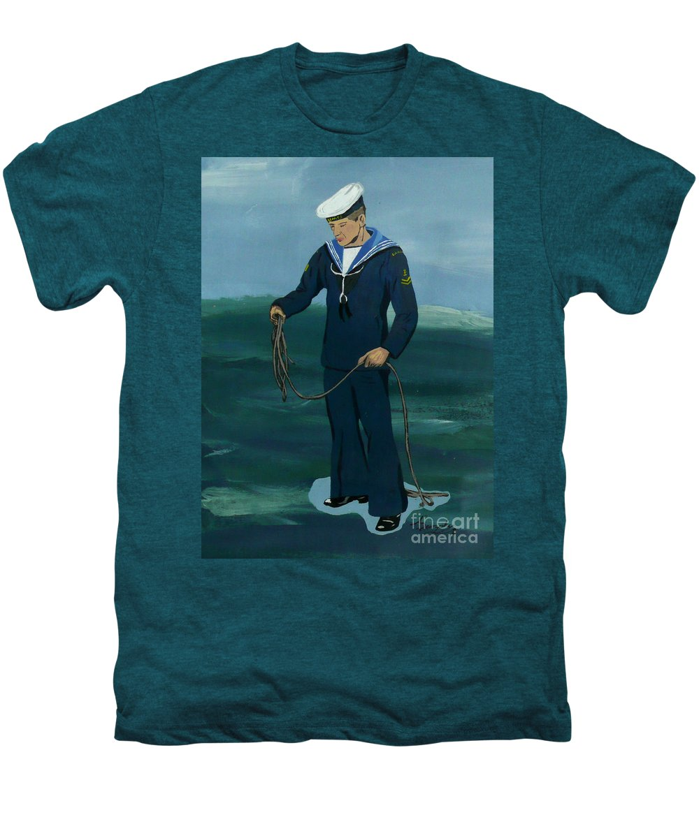 Sailor Men's Premium T-Shirt featuring the painting The Sailor by Anthony Dunphy