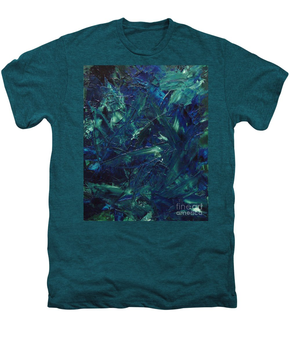 Abstract Men's Premium T-Shirt featuring the painting Transtions Xi by Dean Triolo