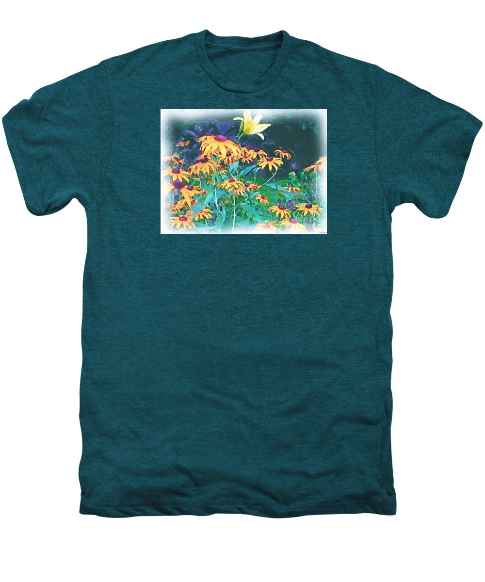 Mixed Media Men's Premium T-Shirt featuring the painting A Lily In The Field by Patricia Griffin Brett