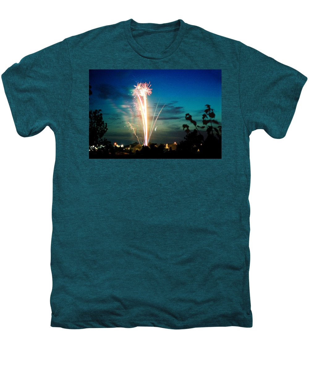 Landscape Men's Premium T-Shirt featuring the photograph 4rth Of July by Steve Karol