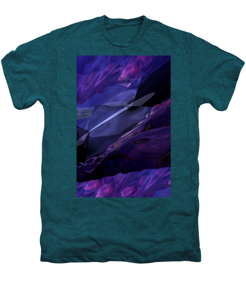 Abstract Men's Premium T-Shirt featuring the digital art Abstractbr6-1 by David Lane