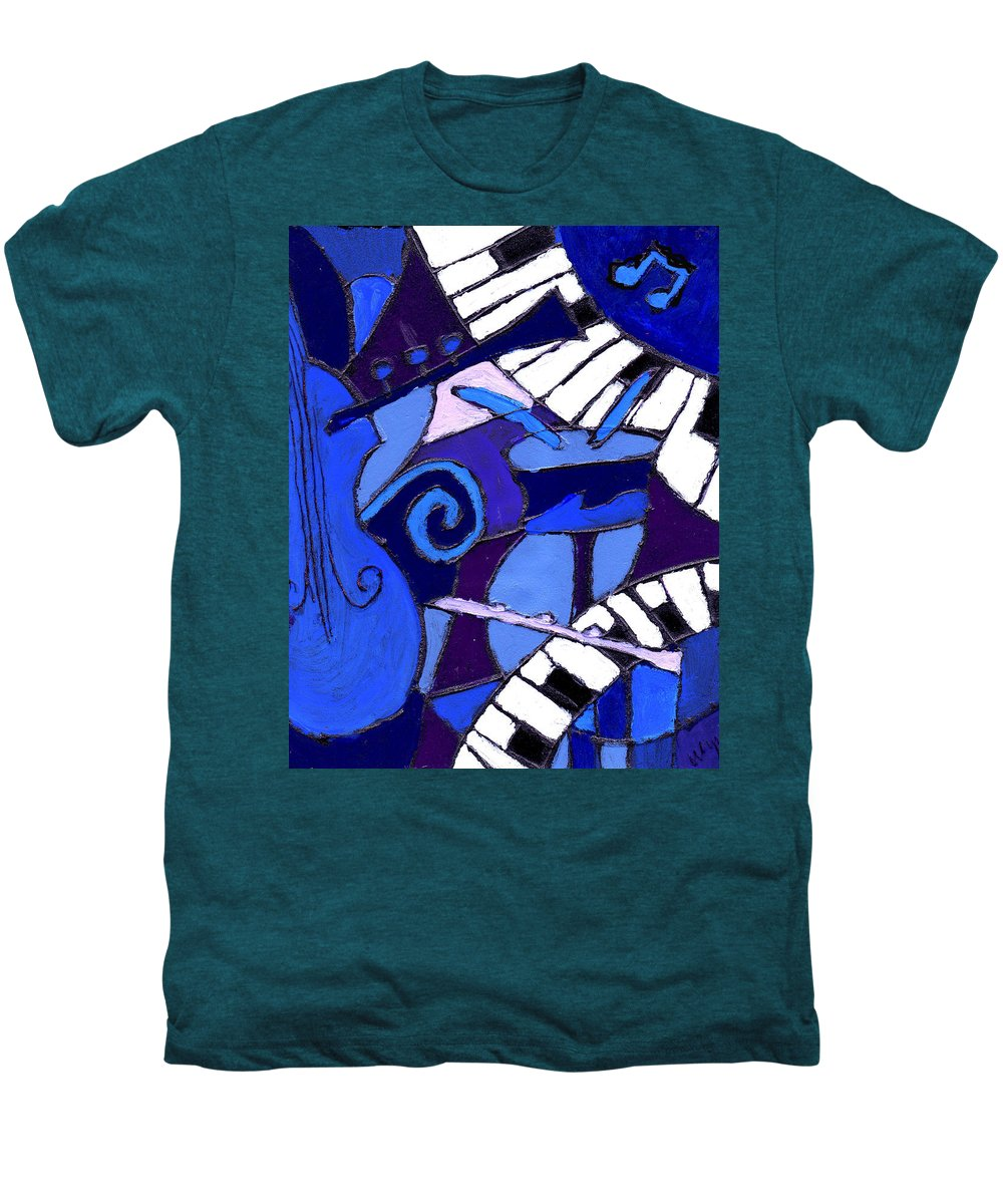 Blues Men's Premium T-Shirt featuring the painting and All that Jazz 3 by Wayne Potrafka