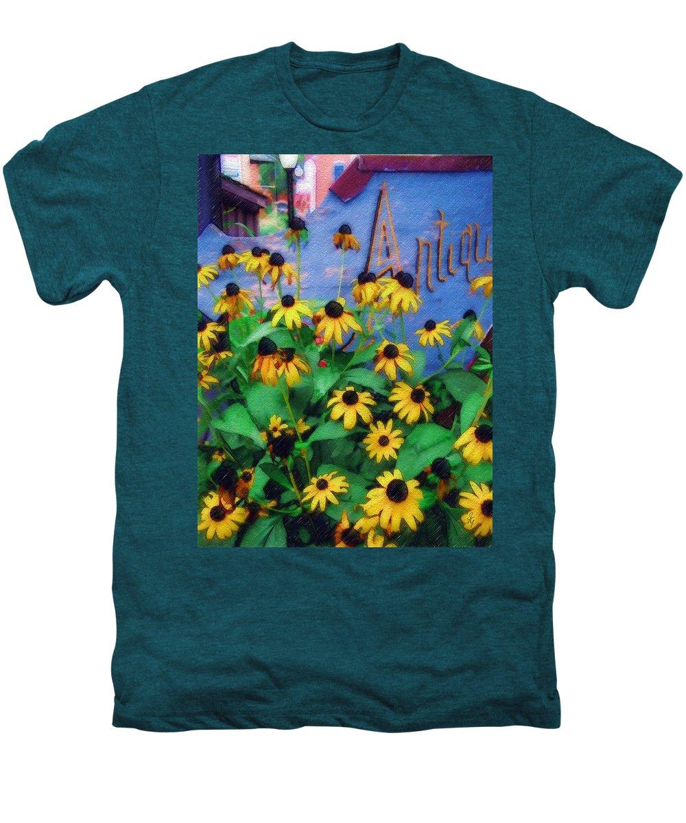 Flowers Men's Premium T-Shirt featuring the photograph Black-eyed Susans At The Bag Factory by Sandy MacGowan