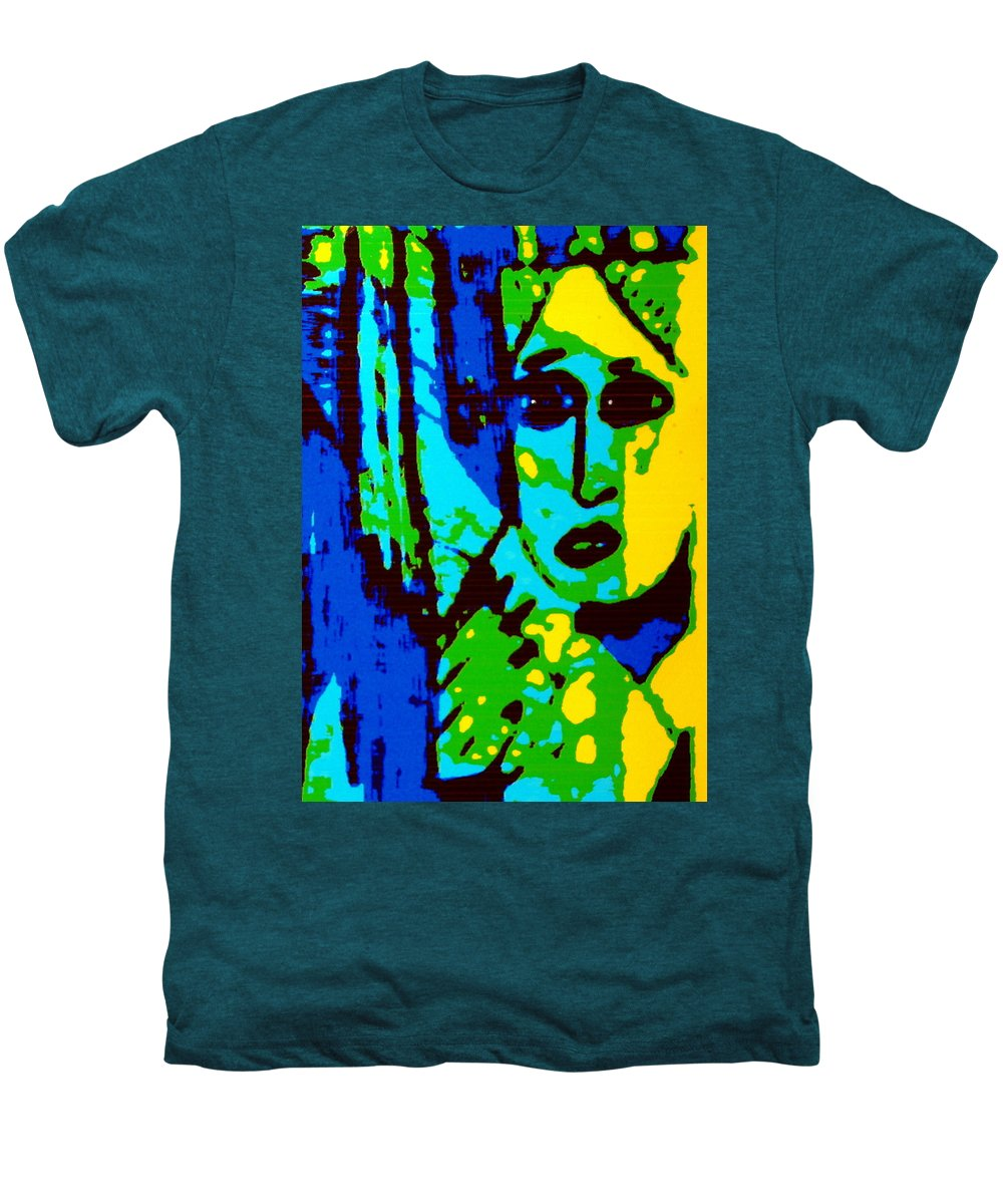Female Men's Premium T-Shirt featuring the painting Broken Promises by Natalie Holland