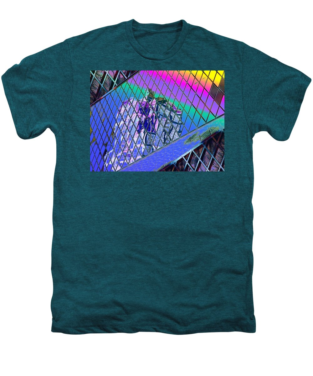 Seattle Men's Premium T-Shirt featuring the digital art Central Library Seattle 3 by Tim Allen