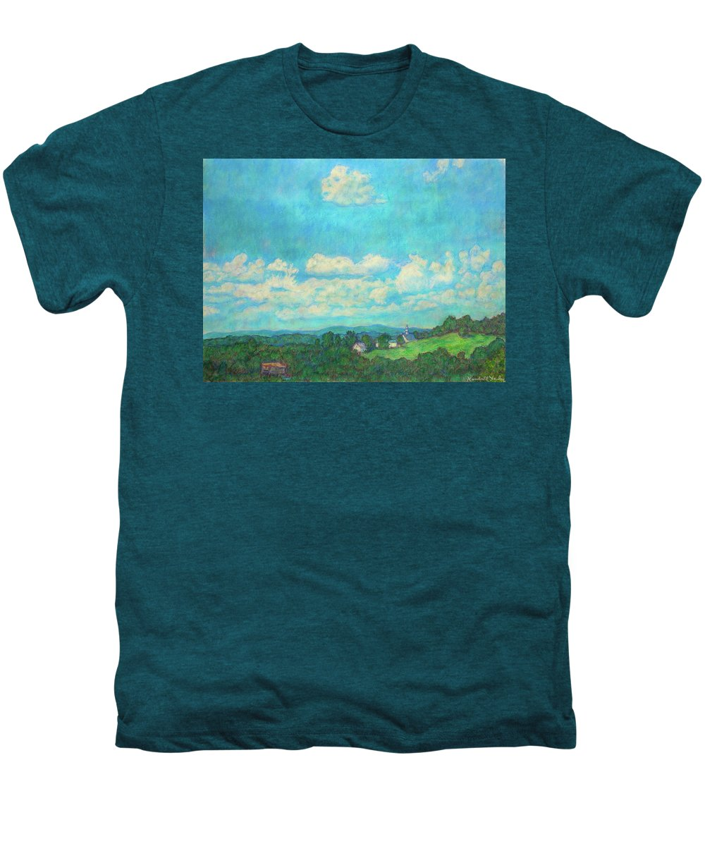 Landscape Men's Premium T-Shirt featuring the painting Clouds Over Fairlawn by Kendall Kessler