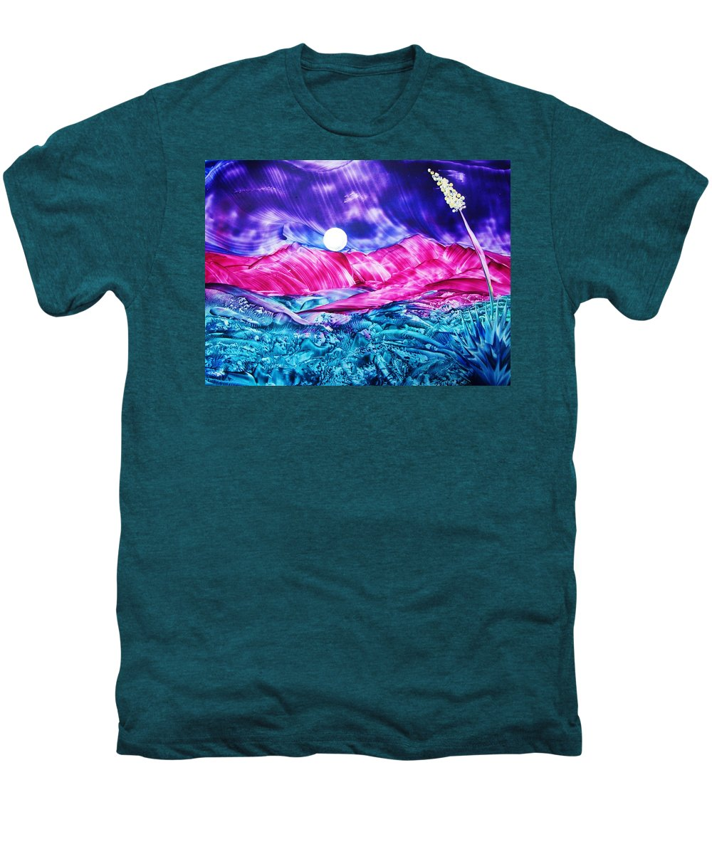 Bold Men's Premium T-Shirt featuring the print Colorful Desert by Melinda Etzold