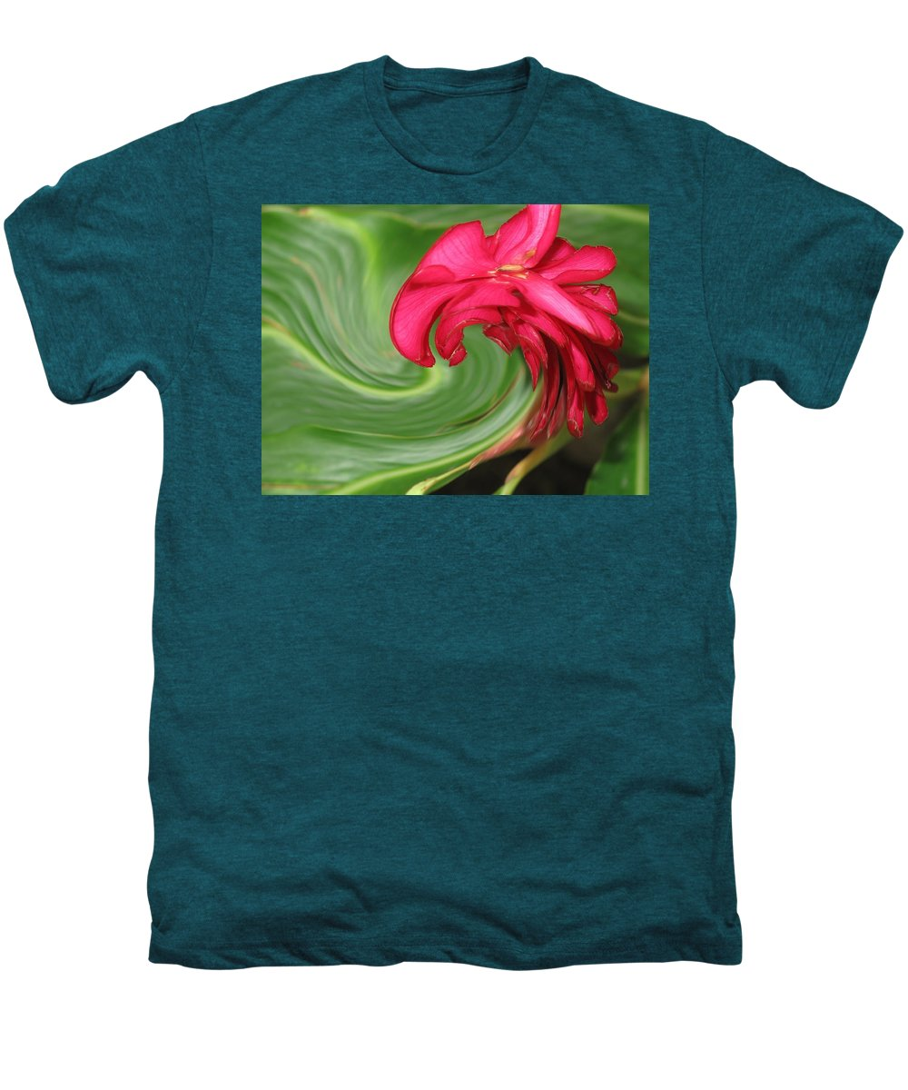 Flower Men's Premium T-Shirt featuring the photograph Come To Me by Ian MacDonald