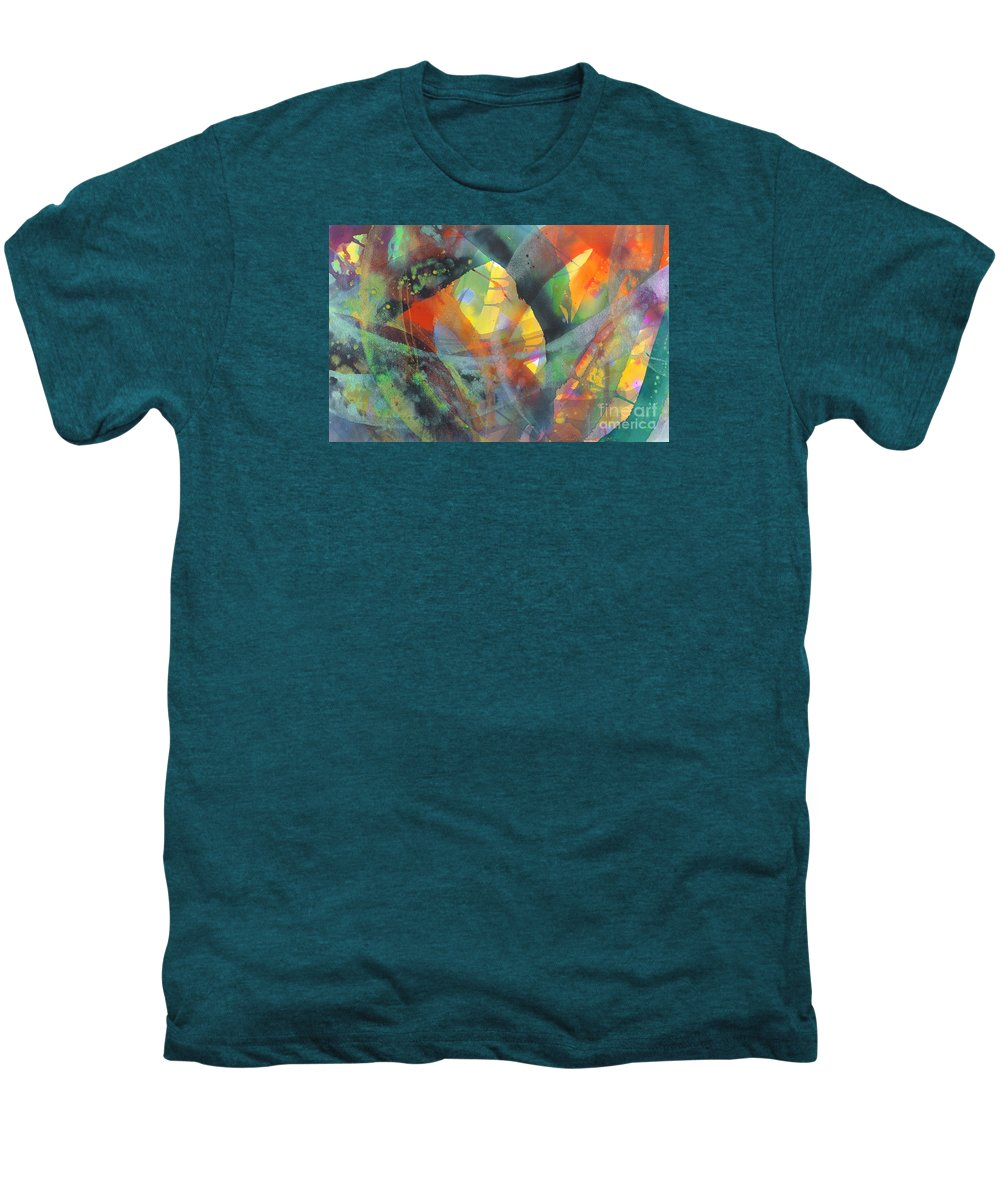 Abstract Men's Premium T-Shirt featuring the painting Connections by Lucy Arnold