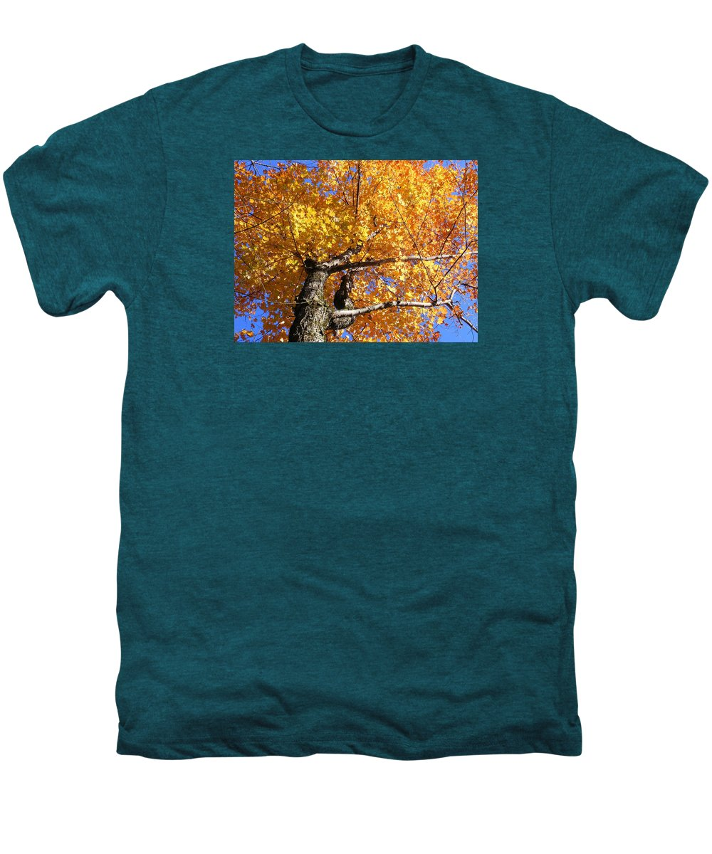 Trees Men's Premium T-Shirt featuring the photograph Crown Fire by Dave Martsolf