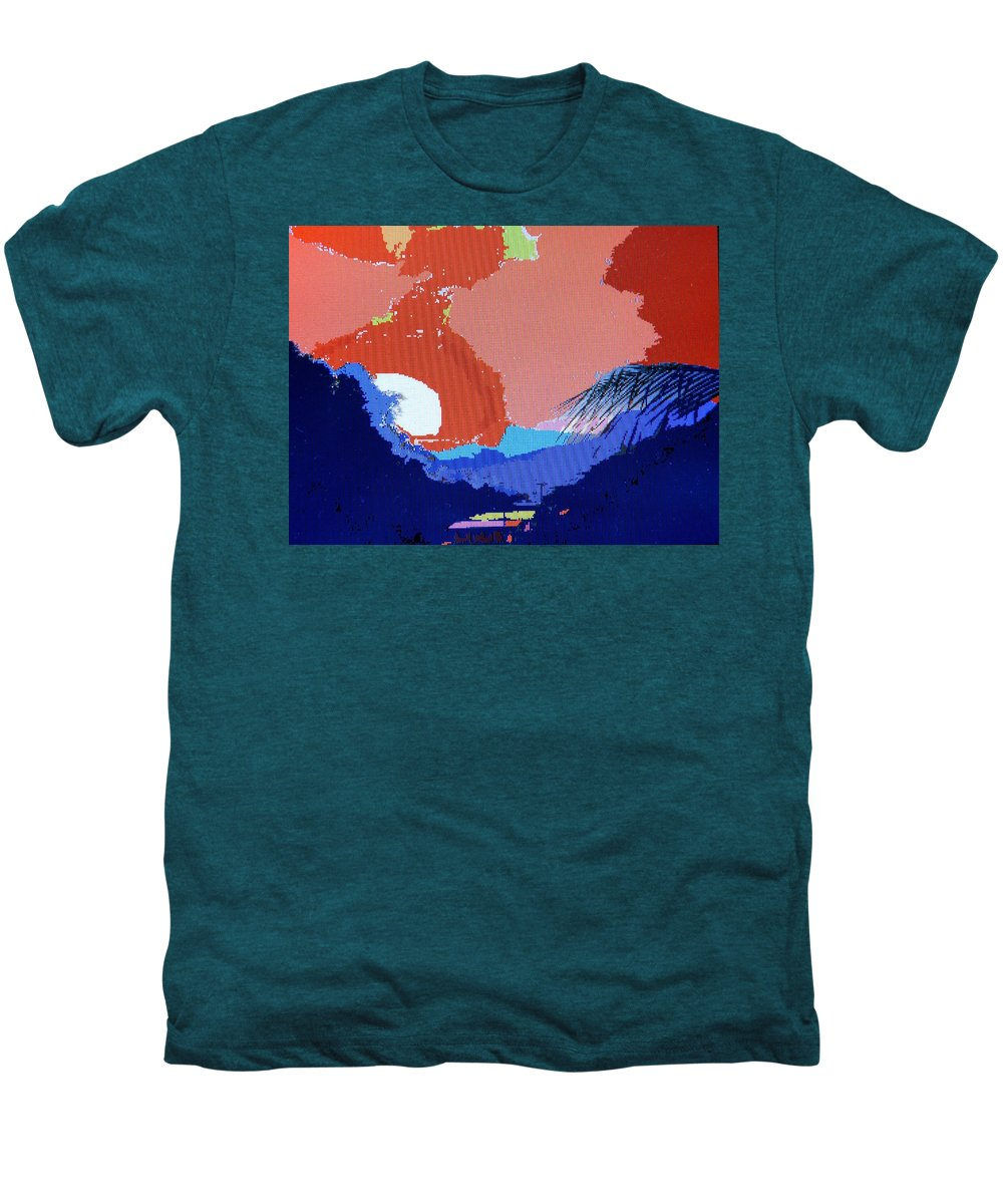 Digital Art Men's Premium T-Shirt featuring the photograph Dominican Sunset by Ian MacDonald
