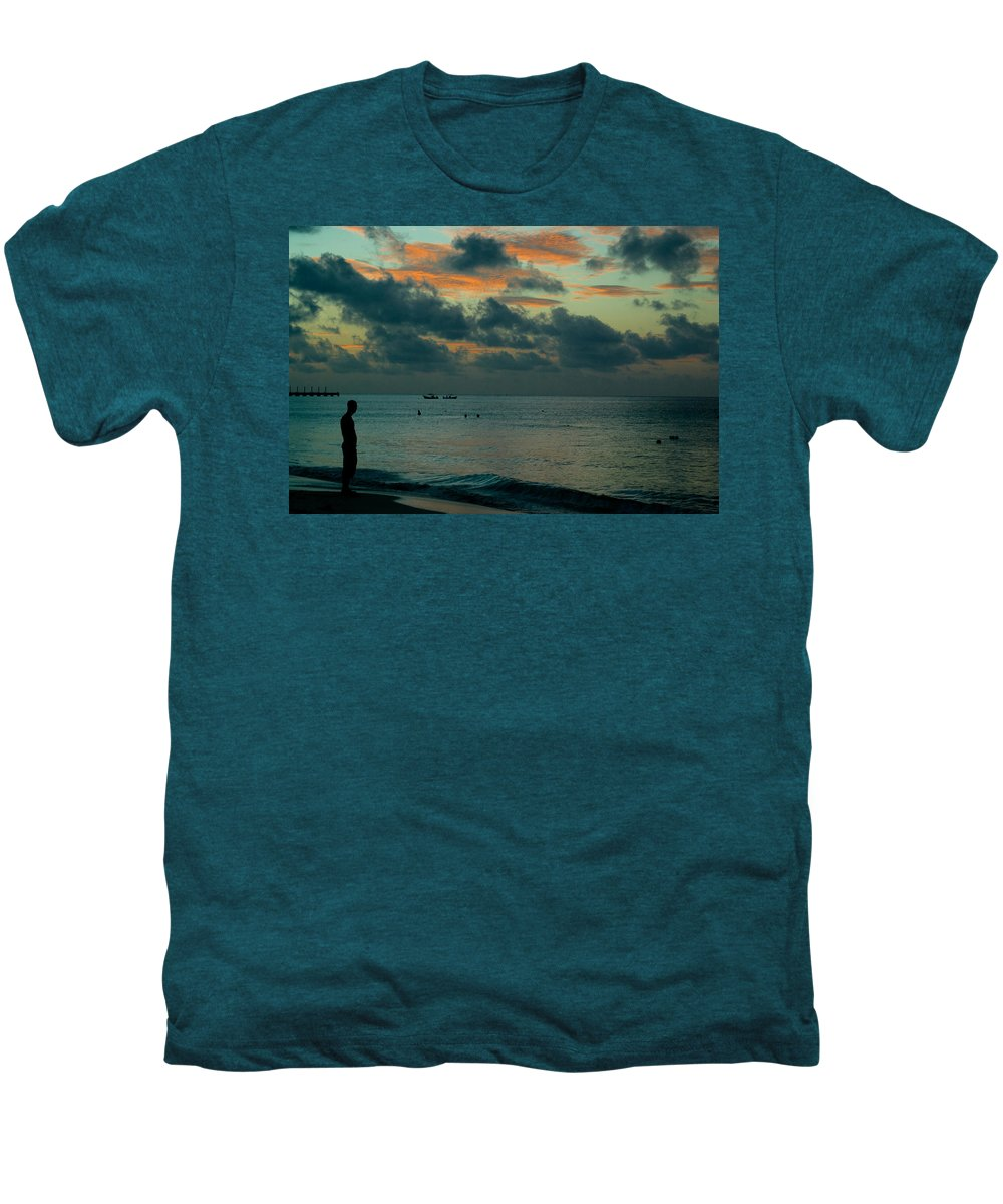 Sea Men's Premium T-Shirt featuring the photograph Early Morning Sea by Douglas Barnett