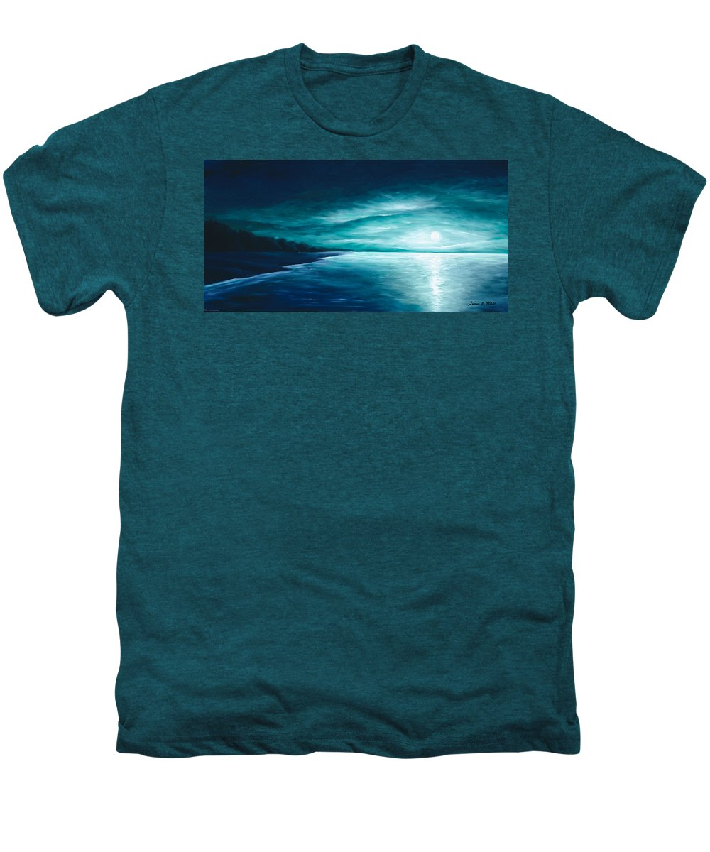 Moonscape Men's Premium T-Shirt featuring the painting Enchanted Moon I by James Christopher Hill