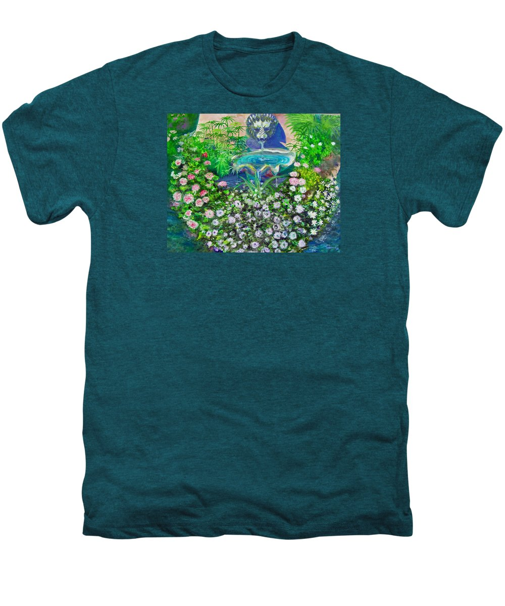 Fountain Men's Premium T-Shirt featuring the painting Fantasy Fountain by Michael Durst