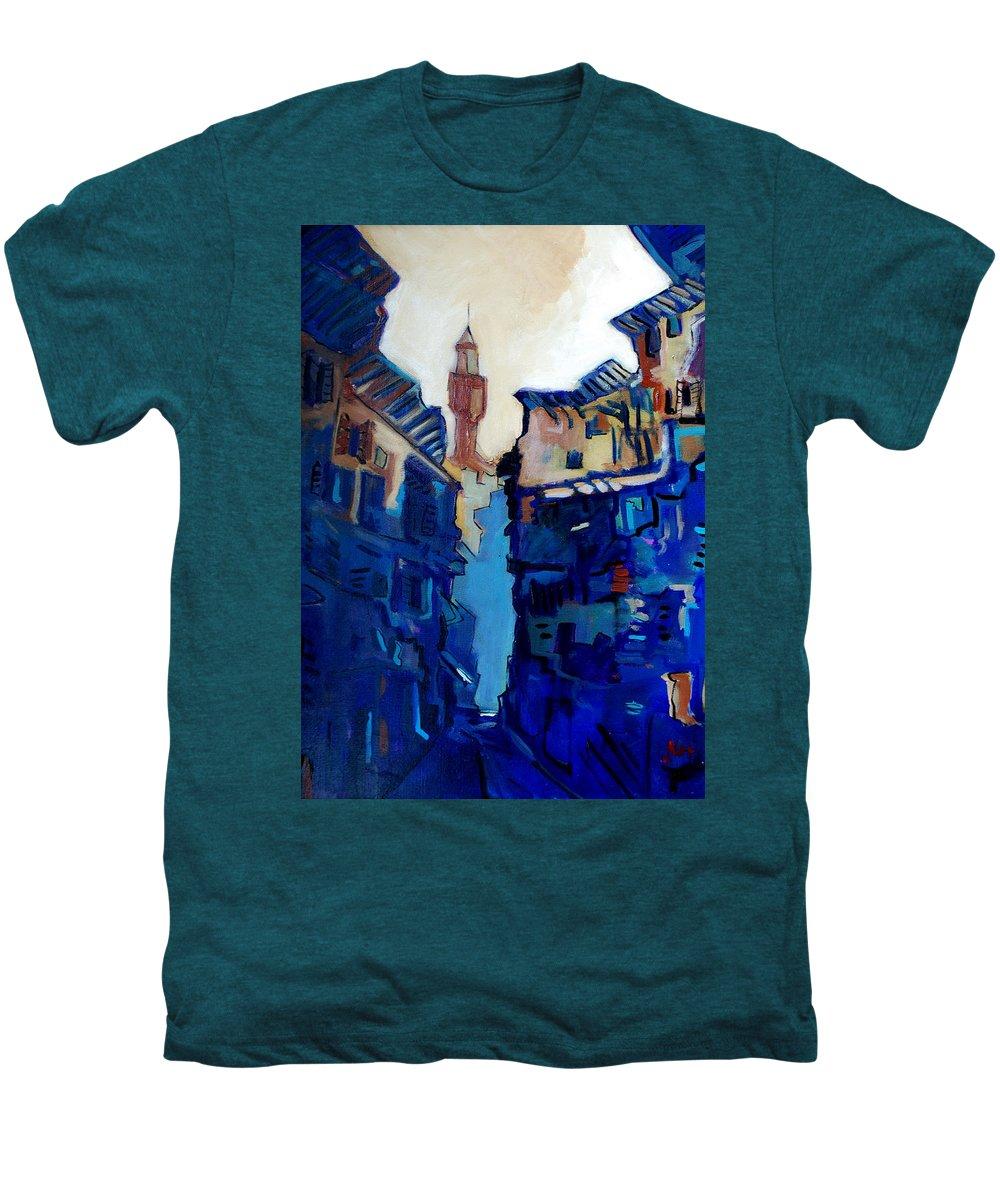 Florence Men's Premium T-Shirt featuring the painting Firenze Street Study by Kurt Hausmann