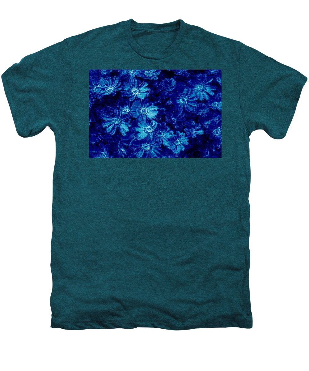 Tile Men's Premium T-Shirt featuring the photograph Flowers On Tiles by Phill Petrovic