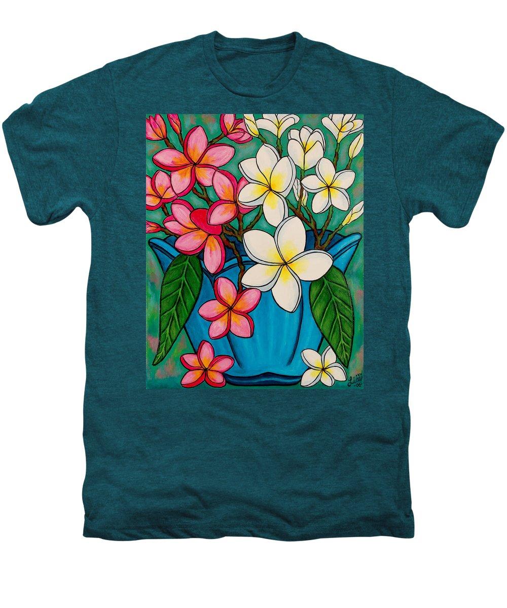 Frangipani Men's Premium T-Shirt featuring the painting Frangipani Sawadee by Lisa Lorenz