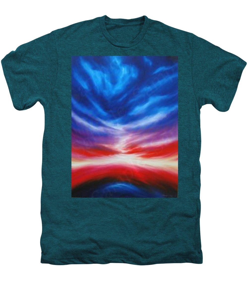 Tempest Men's Premium T-Shirt featuring the painting Genesis IIi by James Christopher Hill