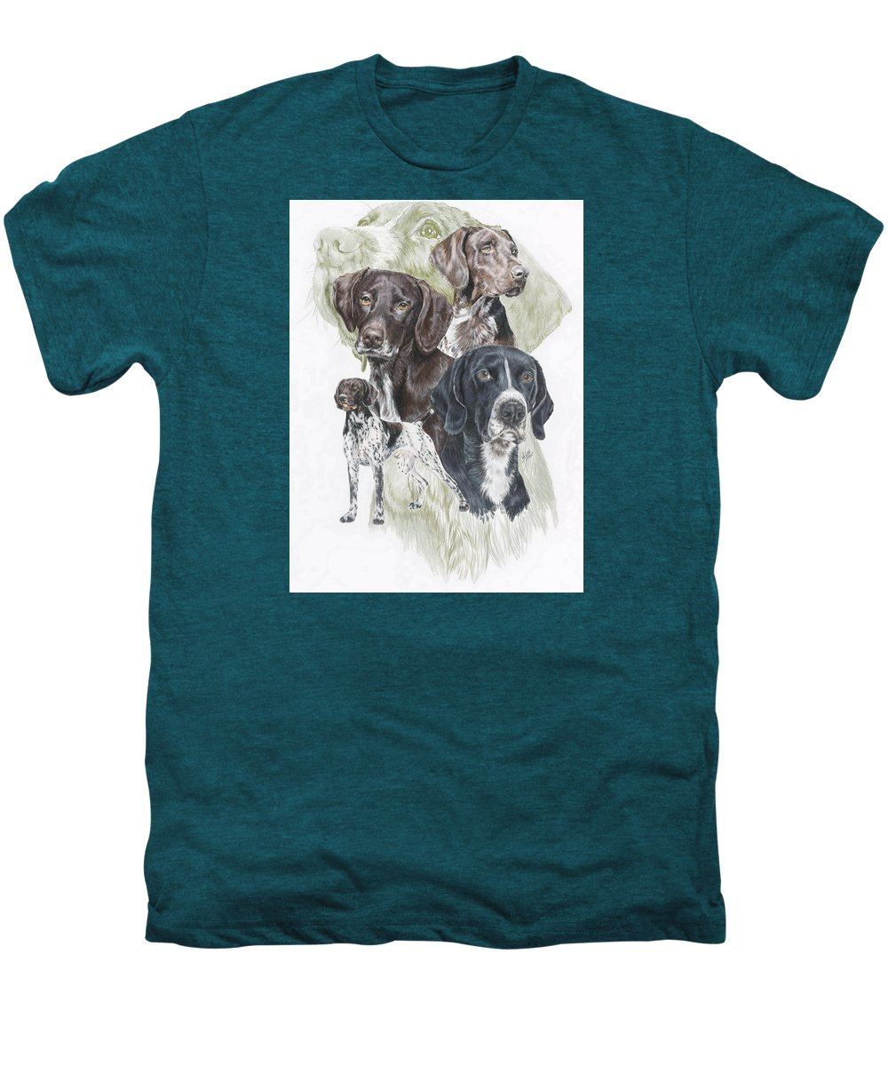 Art Men's Premium T-Shirt featuring the mixed media German Shorted-haired Pointer W/ghost by Barbara Keith