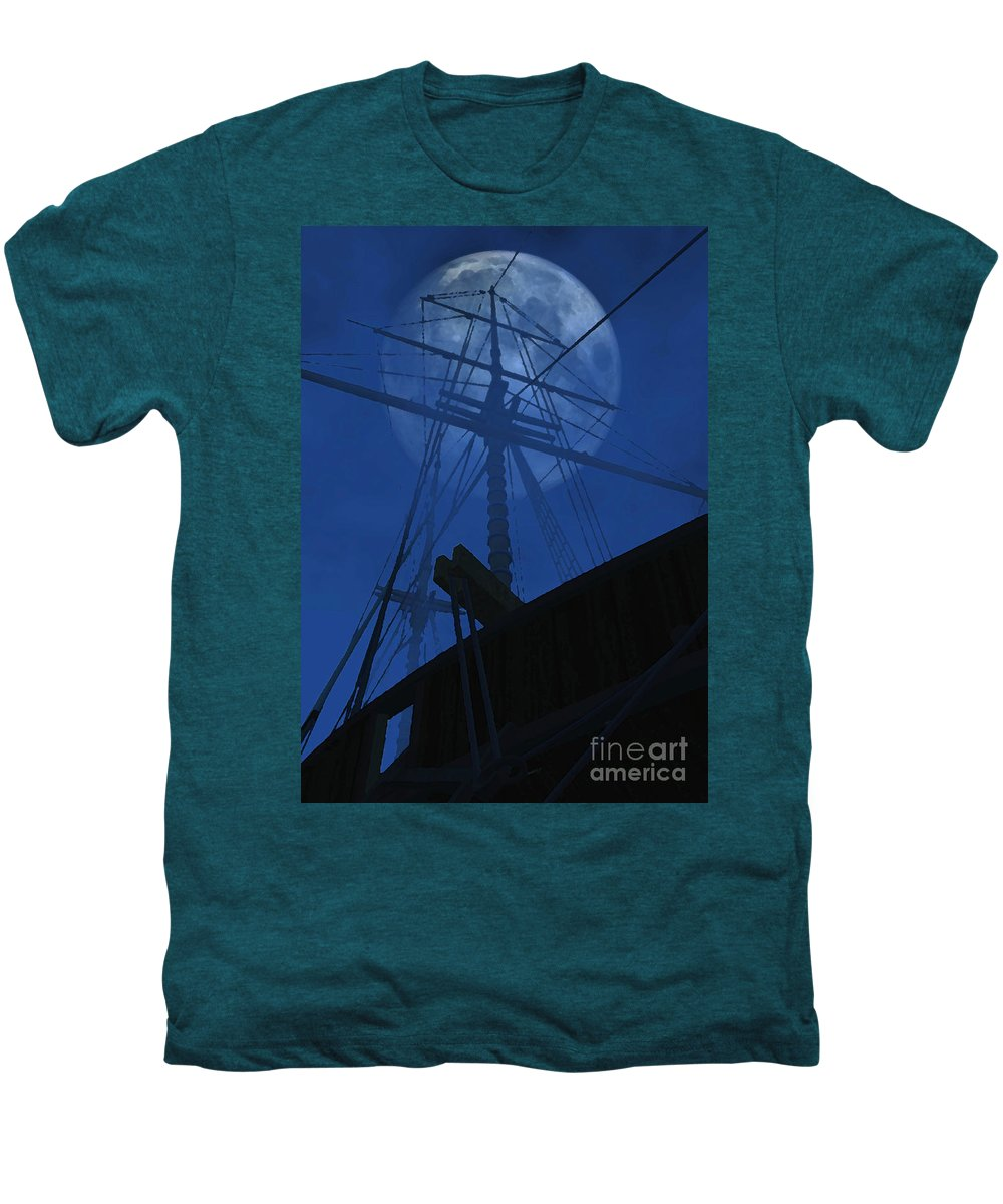 Ghost Ship Men's Premium T-Shirt featuring the digital art Ghost Ship by Richard Rizzo
