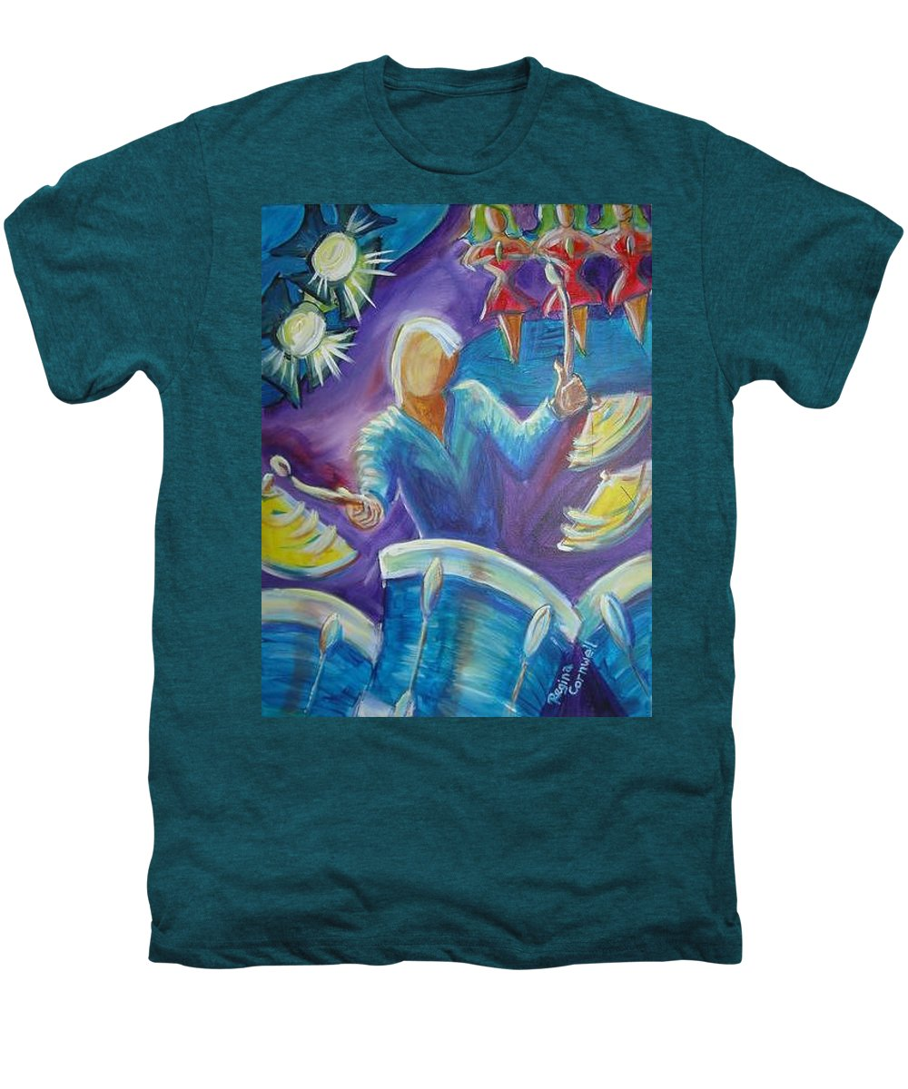 Jazz Men's Premium T-Shirt featuring the painting Give Me A Beat by Regina Walsh