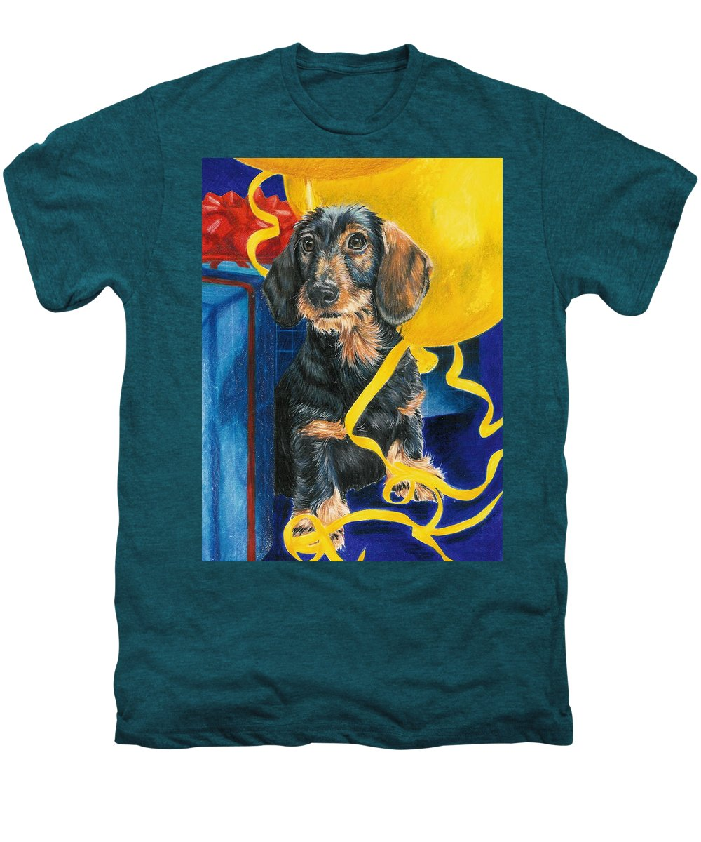 Dogs Men's Premium T-Shirt featuring the drawing Happy Birthday by Barbara Keith